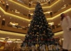Luxury Abu Dhabi hotel with jewel studded Christmas tree