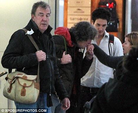 Jeremy Clarkson at Heathrow Today