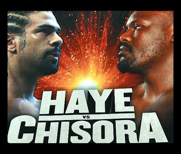 David Haye v Chisora Fight Live, Grudge Match Starting Soon